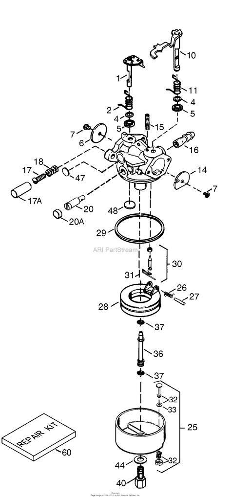 Tecumseh TEC-640344 Parts Diagram for Carburetor