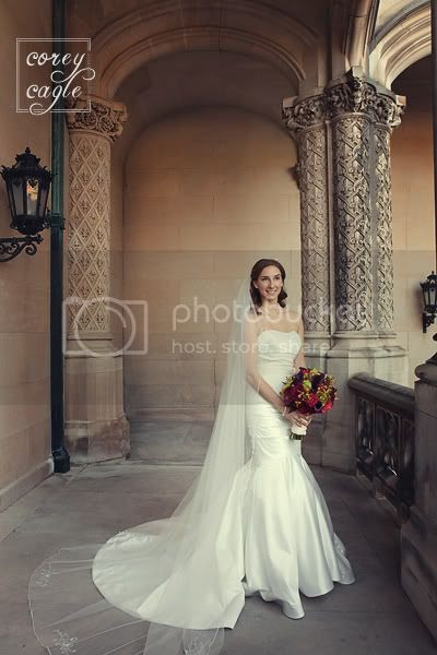 bridal portrait at biltmore house