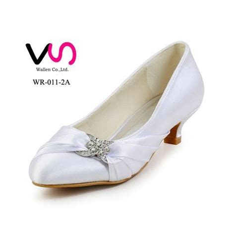 6cm Hot Low Heel Nice Ivory Color Pump Closed Shoe Toe