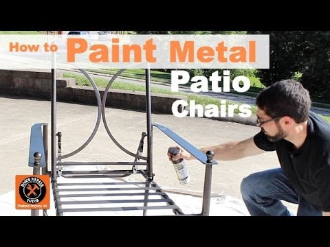 How to Paint Metal Patio Chairs -- by Home Repair Tutor ...