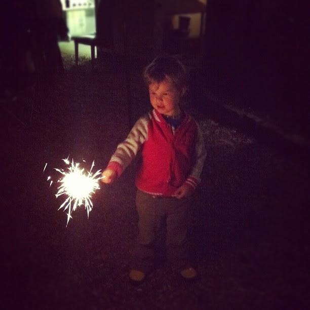 Dylan's first sparkler :)