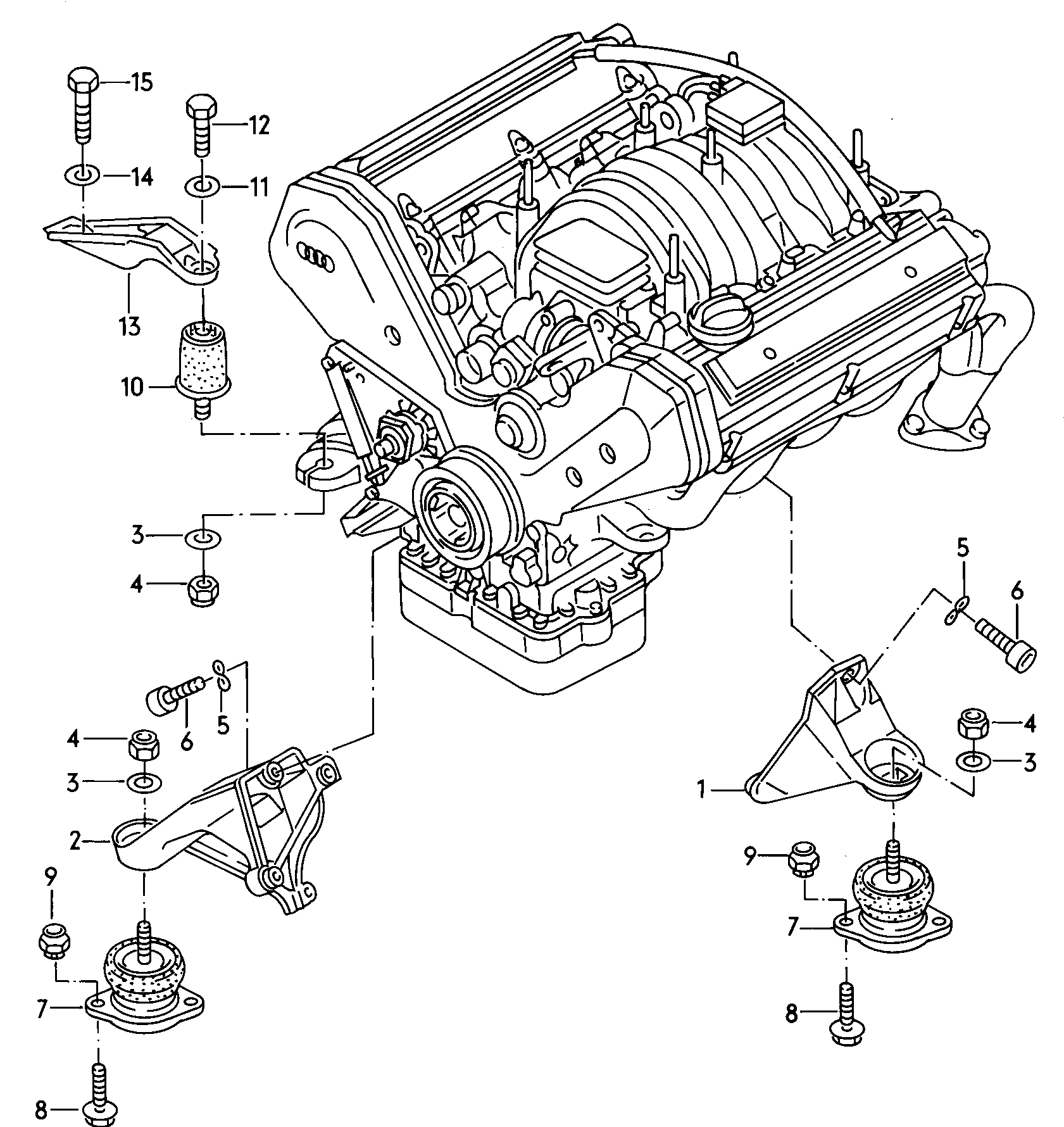 Audi V8 Engine Diagram