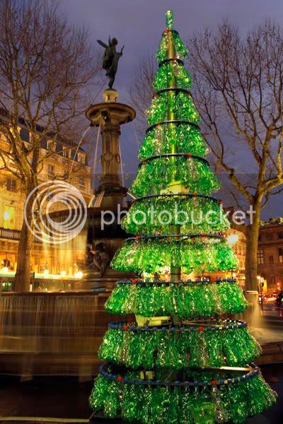Fabrice Peltier's Used Plastic Bottles Christmas Tree 3
