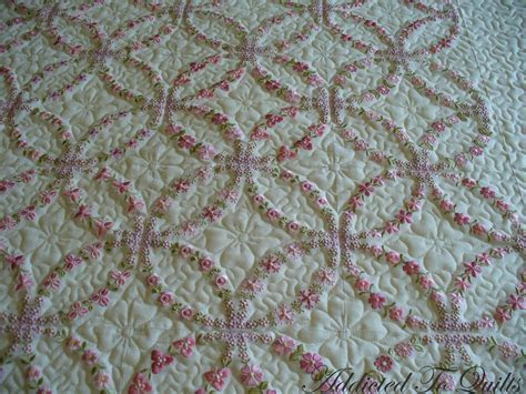 Wedding Ring Quilt   wedding ring embroidery quilt i love