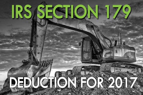 IRS Section 179 Deduction for 2017