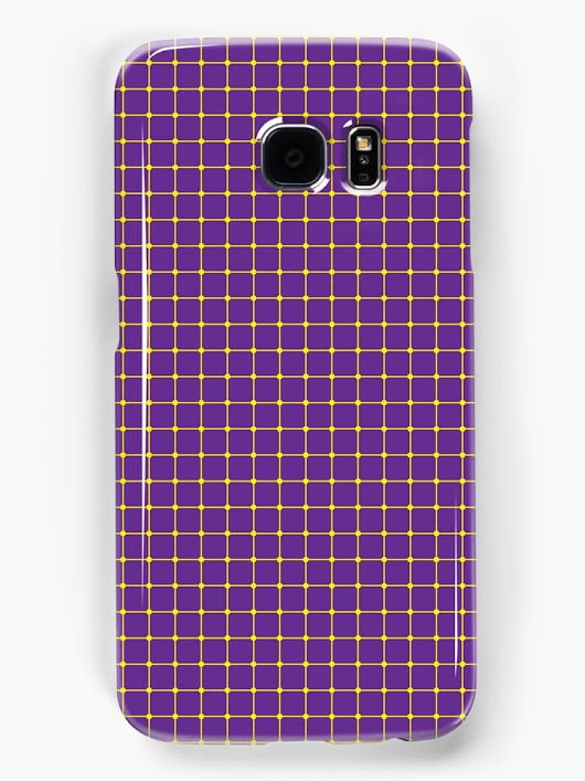 'Purple Dot Optical Illusion Pattern' Samsung Galaxy Case/Skin by sciencenotes