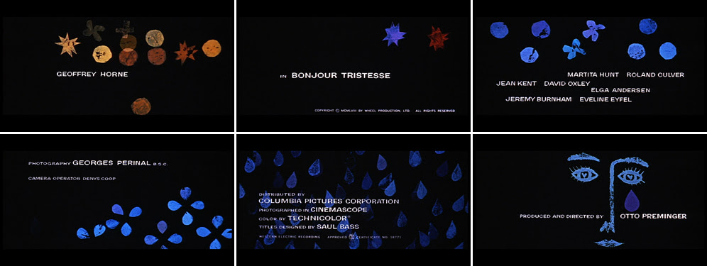Saul Bass Bonjour tristesse 1958 title sequence