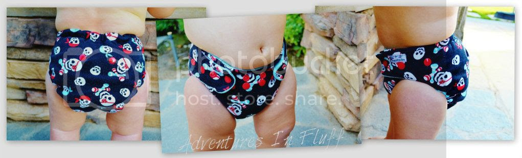 Poopsie Doodles One-Size Fitted Cloth Diaper - Up Close