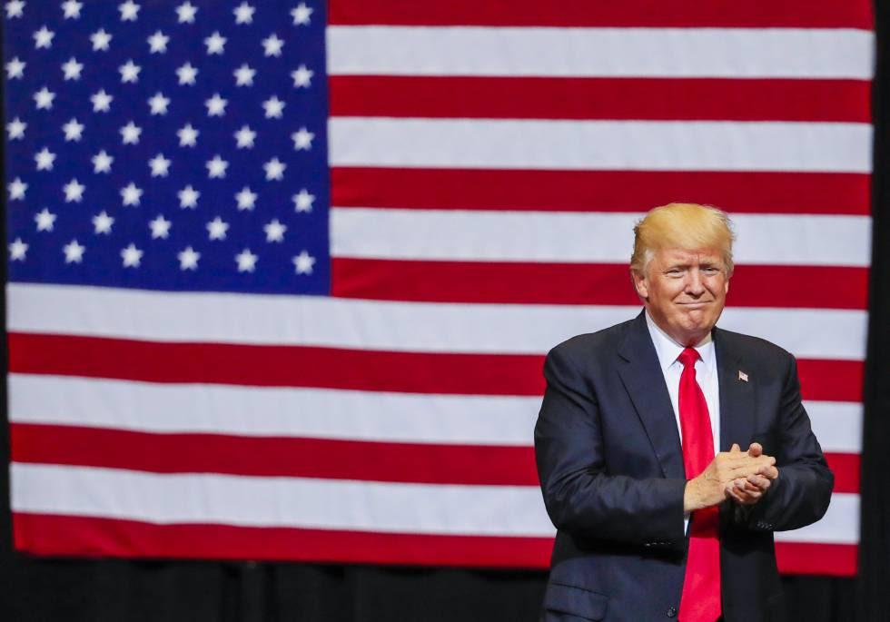El presidente de Estados Unidos, Donald Trump, esta semana durante un mitin.