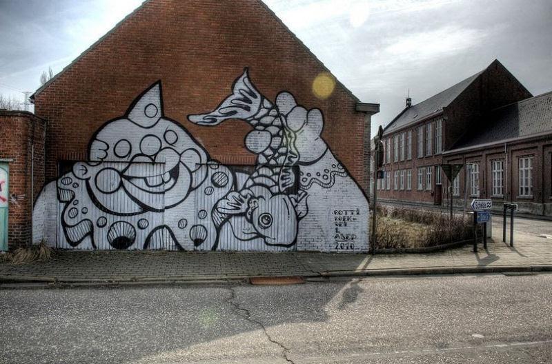 A vila condenada de Doel e sua arte de rua surpreendente 01