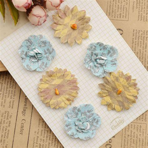 colourful handmade paper flowers  diy scrapbooking