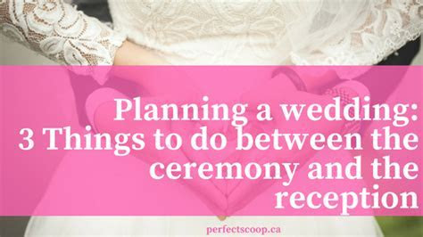 Planning a wedding: What to do between the wedding