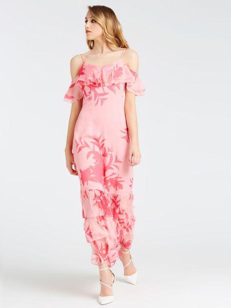 Robe Avec Volant Imprime Floral