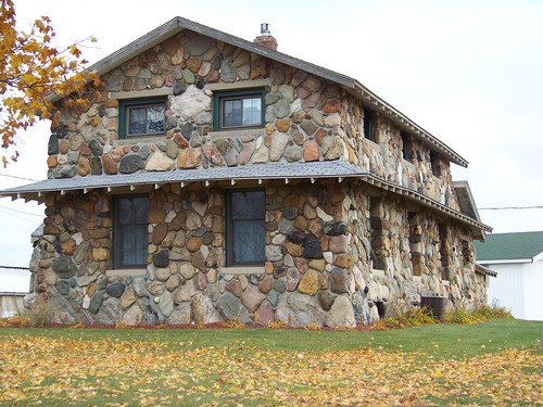 house made of field stone
