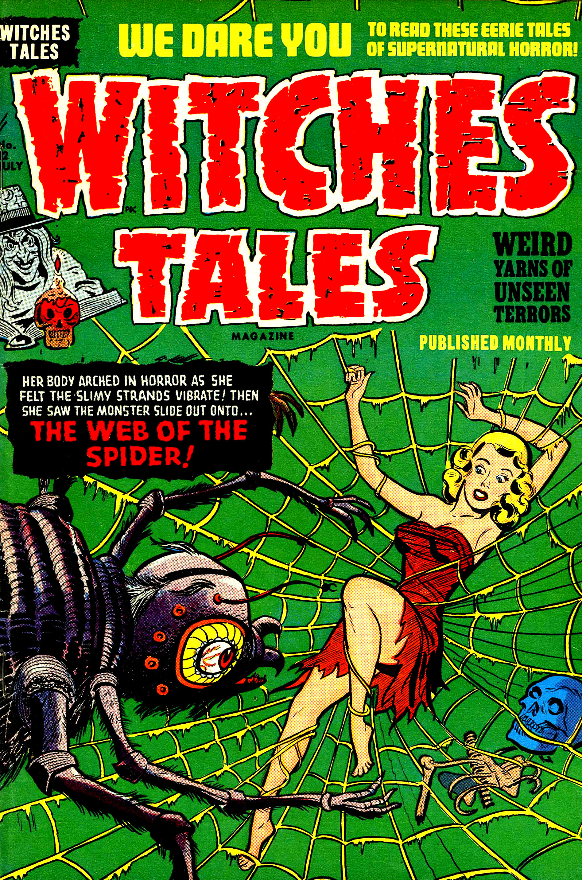 Witches Tales #12, Al Avison Cover (Harvey, 1952)