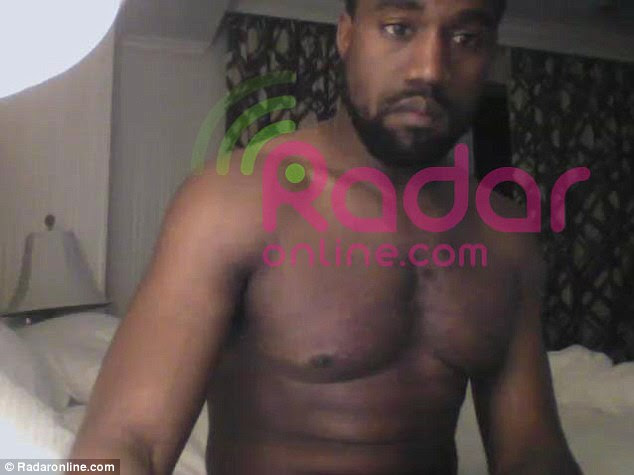 Being shopped: Kanye West has reportedly starred in his own sex tape with a Kim Kardashian lookalike, pictured ion a reported screen grab from it here