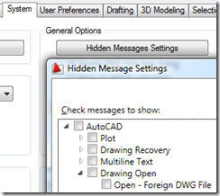 Hidden Message Settings