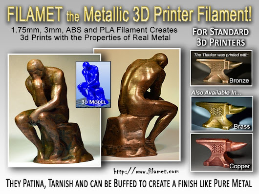 Filamet-The Metallic Printer Filament for Artists and Makers by Bradley woods — Kickstarter