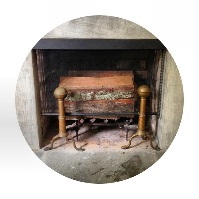 The little fireplace upstairs in my studio.