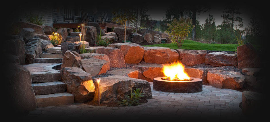 Spokane Coeur Dalene Backyard Fire Pit Design Construction