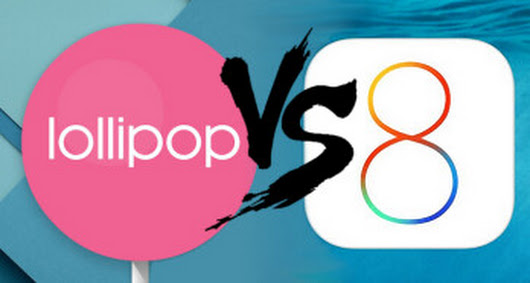 Android 5.0 Lollipop crashes less than iOS 8, report says