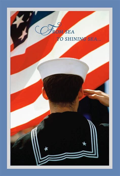 Sea to Shining Sea Navy Veterans Day Card   Greeting Cards