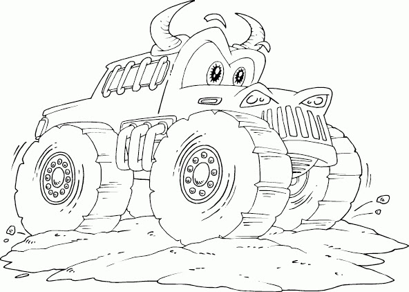 Max D Monster Truck Coloring Pages at GetColorings.com ...