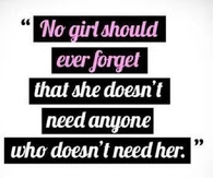 No girl should ever forget