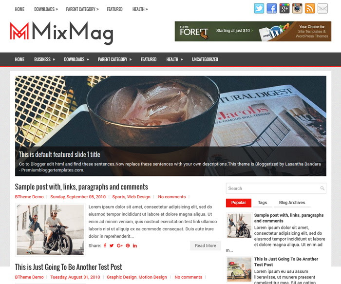 MixMag Blogger Template