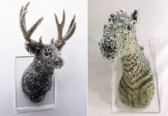 Stunning Glass Art: Sculptures made of Glass Beads