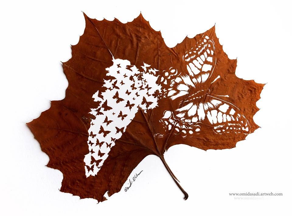 Stunning Artwork Made Of Fallen Leaves   Snaplant.com
