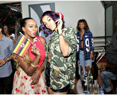 DJ Cuppy Pictured With Nyanda Of Brick N Lace