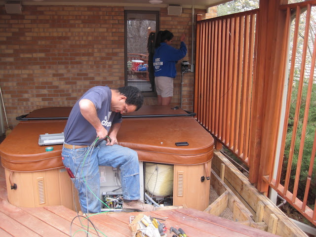 Hot Tub In Deck Partially Of Fully Sunk In How Is It Done