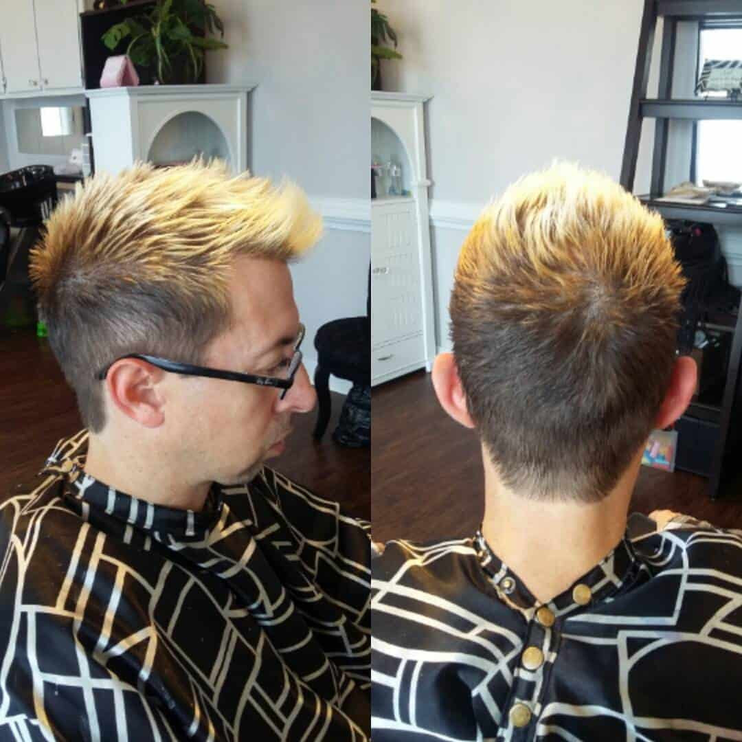 Black Guy With Blonde Hair Uphairstyle