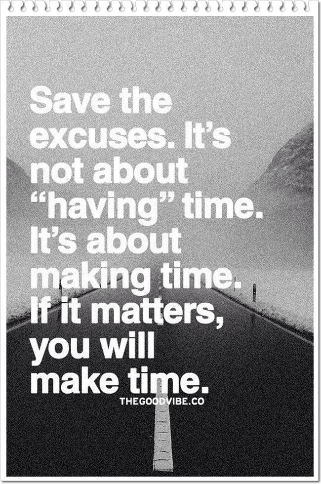 Quotes About Not Making Excuses
