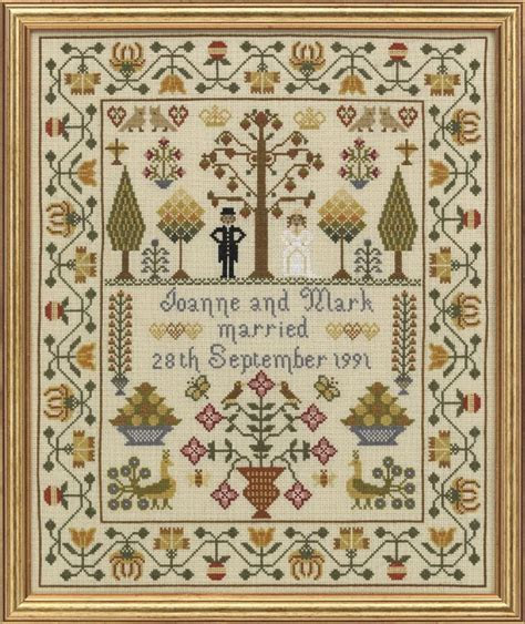 HS Counted Cross Stitch Sampler Kit ? Classic Wedding