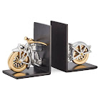 Pendulux Motorcycle Bookends Aluminum