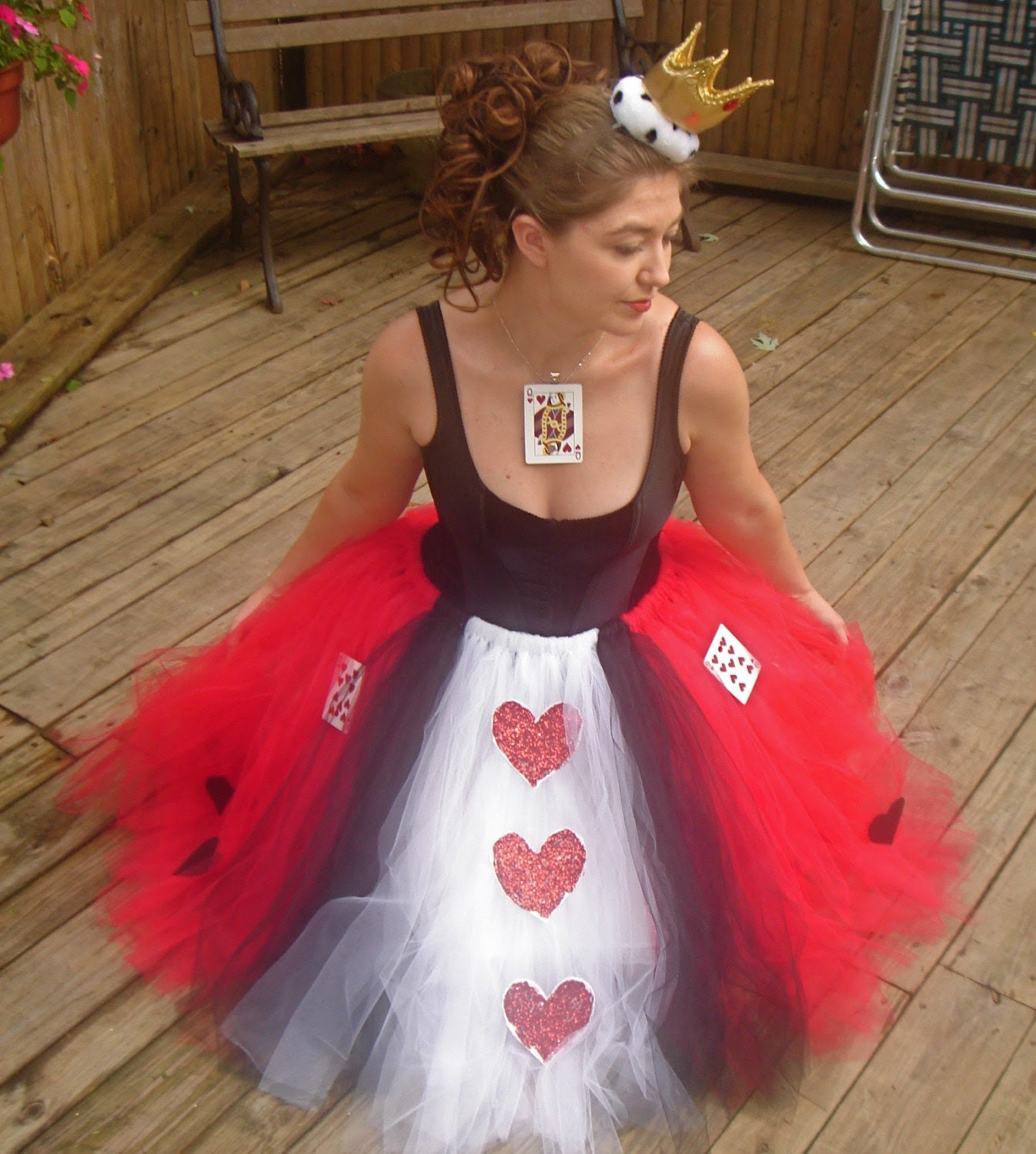 Queen of Hearts  Adult Boutique Tutu Skirt Costume