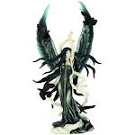 Nene Thomas Faery of Ravens Hand Painted Statue