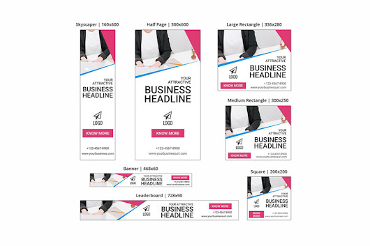 Business Banner - SEA Ad Templates - Graphic Ghost
