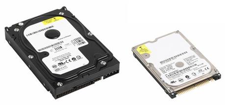3.5 inch hard drive and 2.5 inch hard drive
