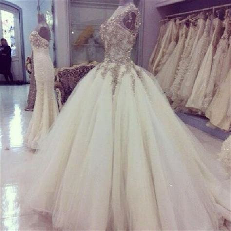 2015 Real Image Glitter Wedding Dresses Jewel Beads