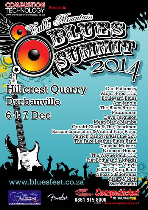 Table Mountain Blues Summit 2014 – 6 and 7 December, Hillcrest Quarry, Durbanville