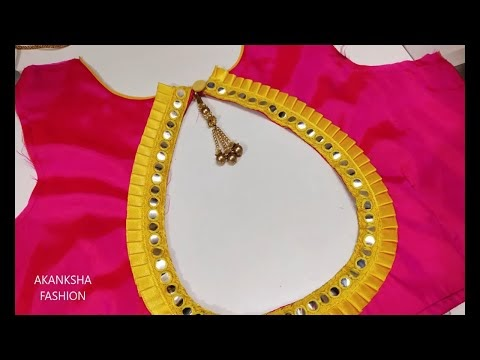 Simple And Easy Blouse Design || cutting and stitching || back neck