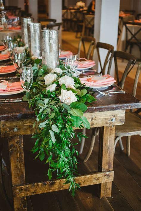Garland and Candle Centerpiece   Wedding garlands, Peach