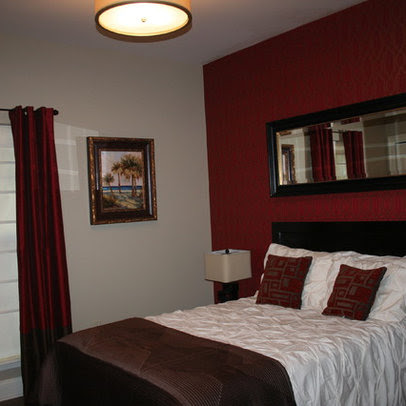 Mirror over bed ideas simple home decoration for Black and burgundy bedroom ideas