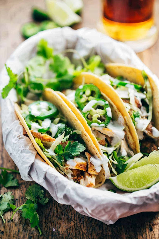20-Minute Ancho Chicken Tacos - Pinch of Yum