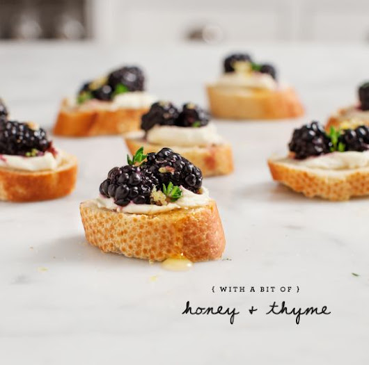 Blackberry & lemon zest crostini