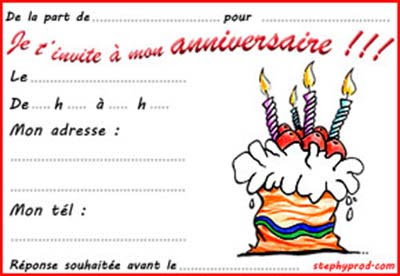 Carte Invitation Anniversaire Adulte Imprimer Coleteremelly Blog
