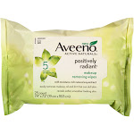 AVEENO Active Naturals Positively Radiant Makeup Removing Wipes, 25 ea by Pharmapacks